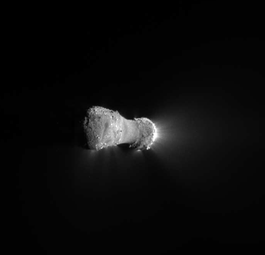 Deep Impact high-resolution view of Hartley 2
