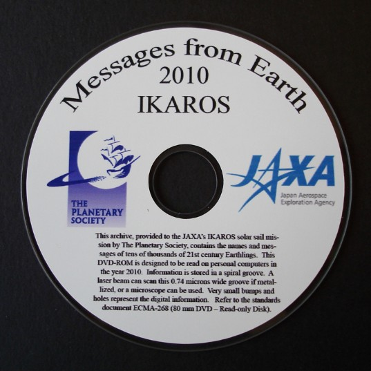 The IKAROS names disc