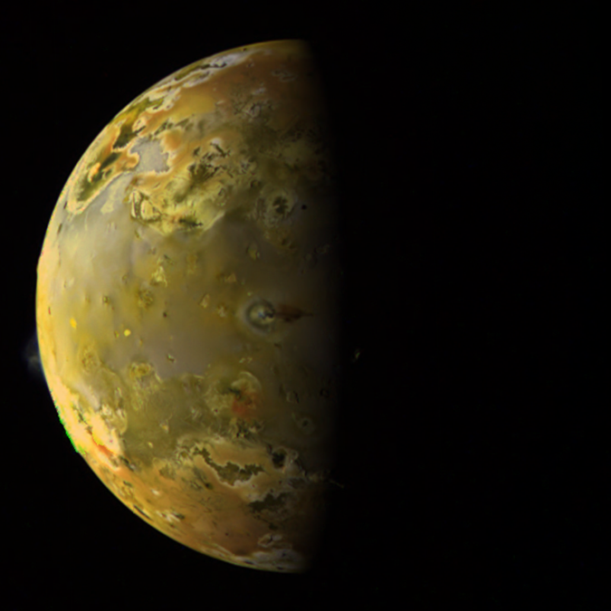 Io, with Pillan erupting