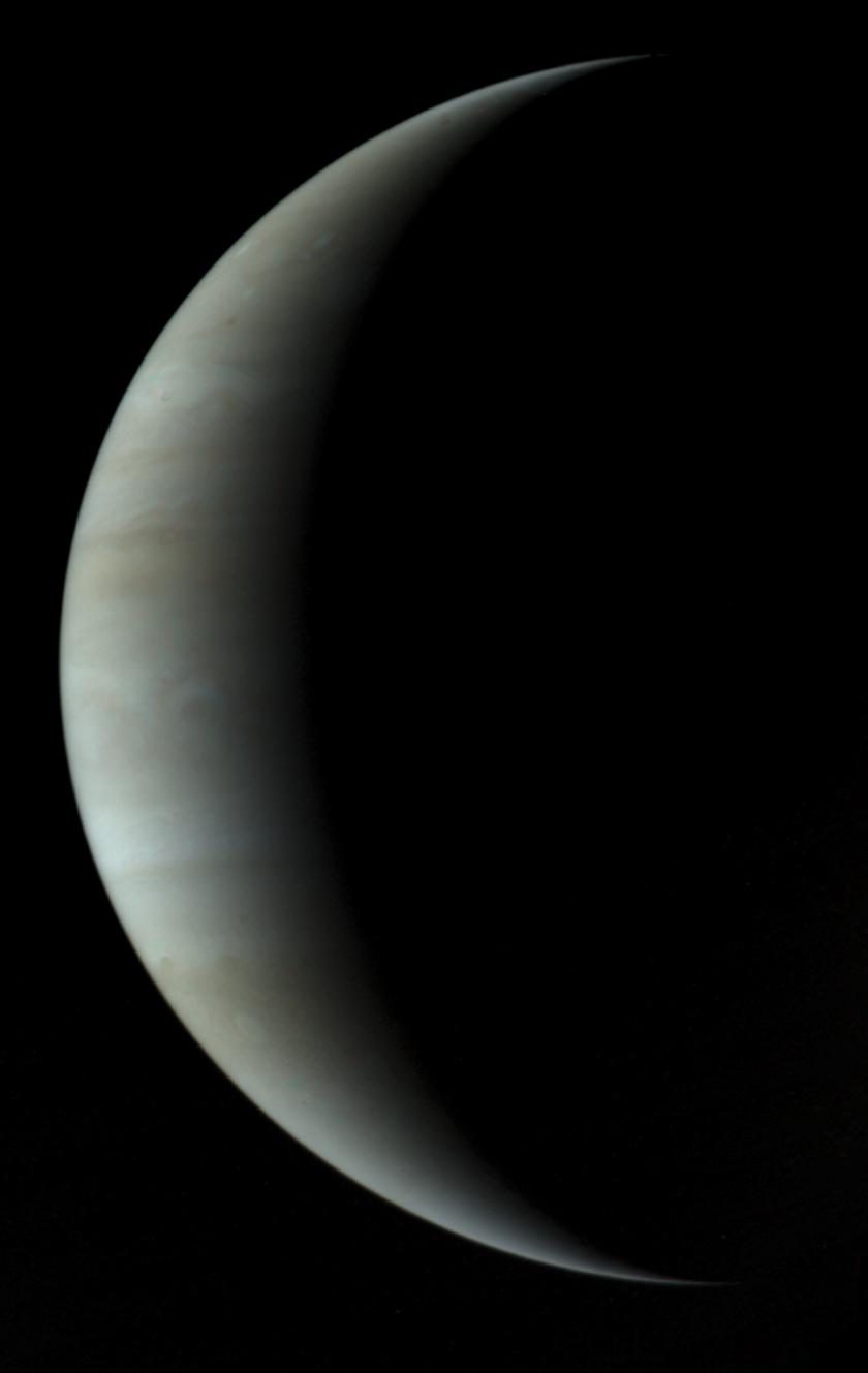 Jupiter's crescent