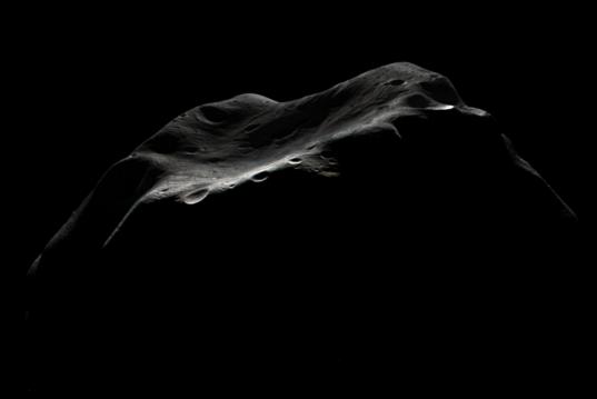 Lutetia's crescent, in color