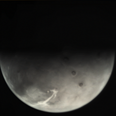 Example raw Mars Express VMC image