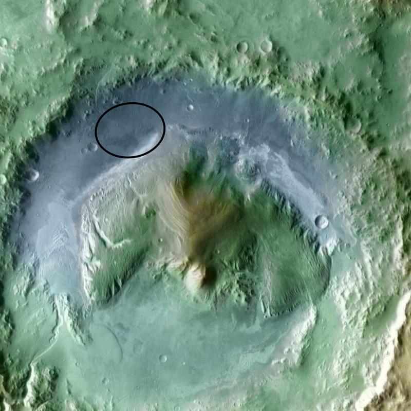 Curiosity landing site: Gale