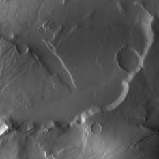Dawn image of Tempe Terra, Mars