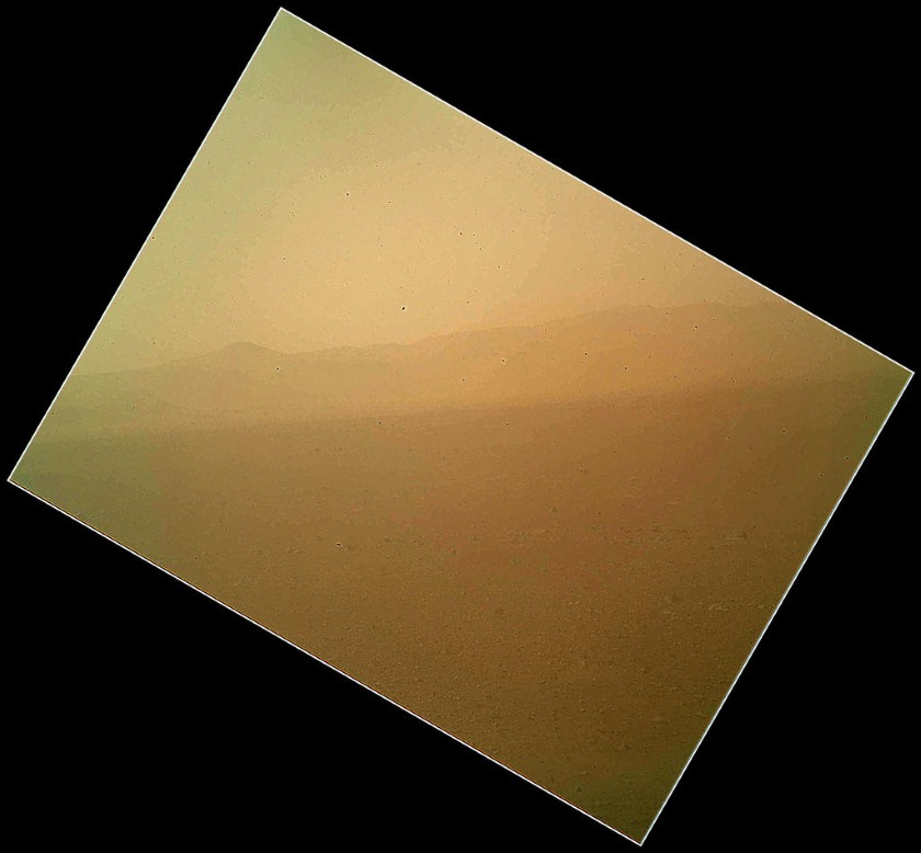 Curiosity's first color picture from Mars