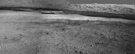 View to the south, Curiosity sol 2 (detail)