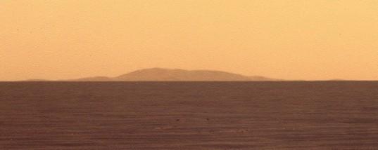 Far rim of Endeavour, Opportunity sol 2636