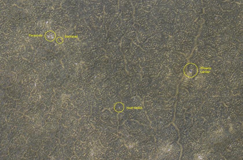 Phoenix landing site monitoring from HiRISE: January 26, 2012