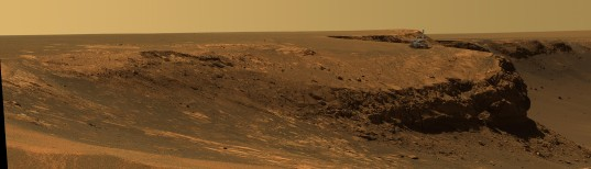 Opportunity at Victoria crater