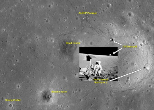 Apollo 12 landing site