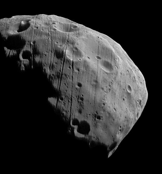 Mars Express' closest-ever image of Phobos
