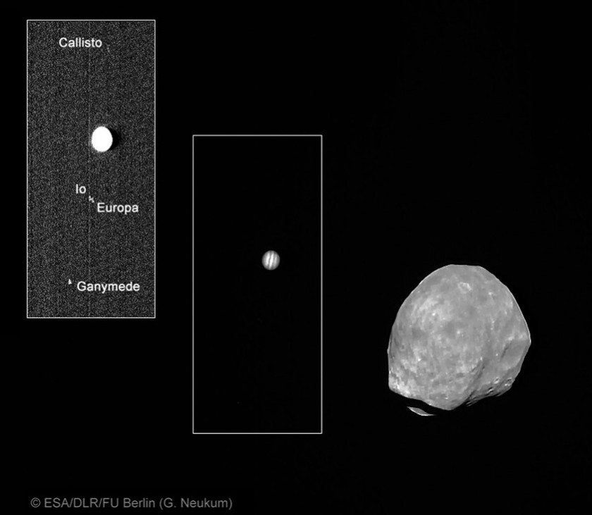 Phobos and Jupiter and Jupiter's moons