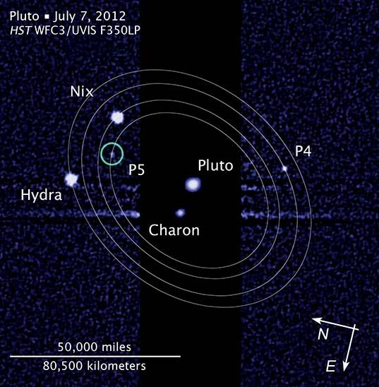 A fifth moon for Pluto