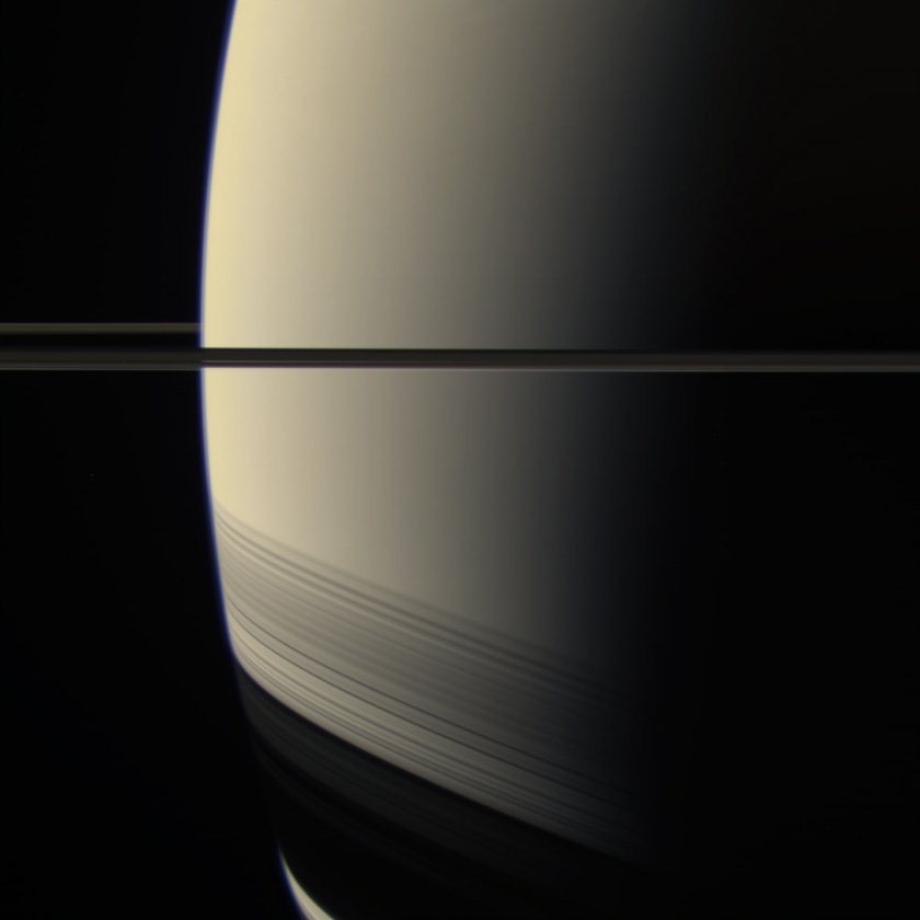 Saturn from Cassini on August 22, 2011