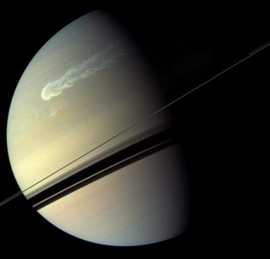 Saturn's northern storm on Feb. 4, 2011