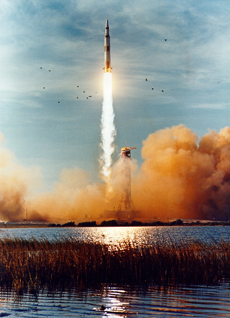 Apollo 8 lifts off