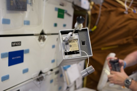 Shuttle LIFE Experiment Block in Space