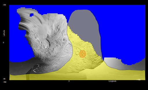 Expected image area for Stardust Tempel 1 flyby