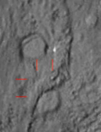 Stacked view of the Deep Impact crater on Tempel 1