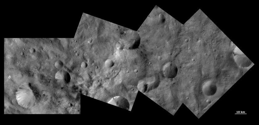 Varying crater morphology on Vesta