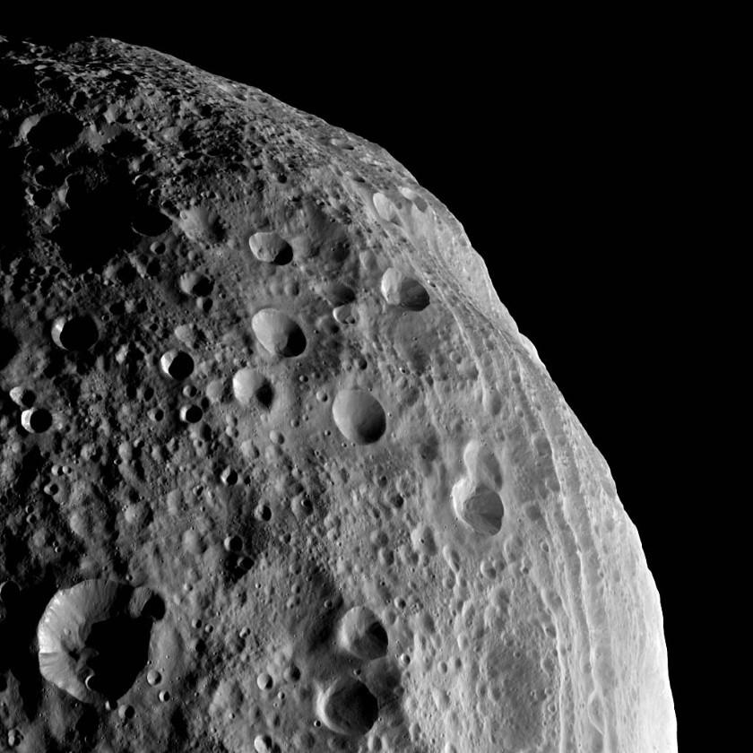 Looking down on Vesta