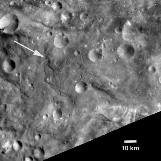 Unusual hill on Vesta