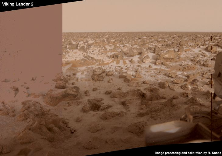 Frost at the Viking 2 lander site