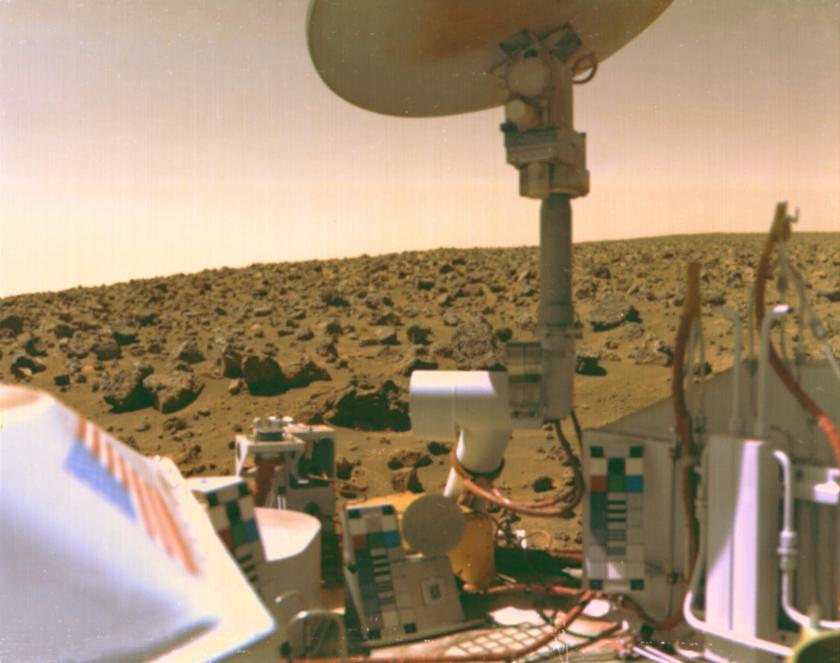 Mars and Viking and NASA logos