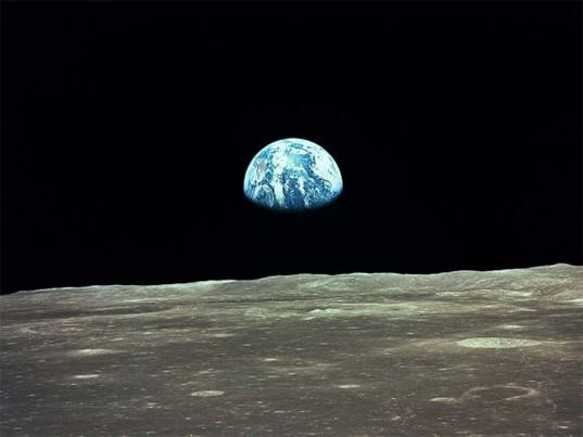 Apollo 8 picture of Earth from the Moon