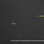 Another track of the 2012DA14 asteroid