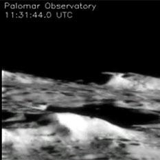 Palomar view of LCROSS impact
