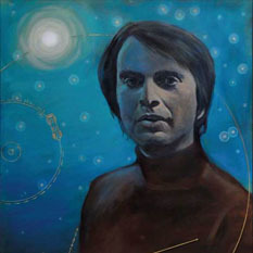 Carl Sagan art by Simon Kregar
