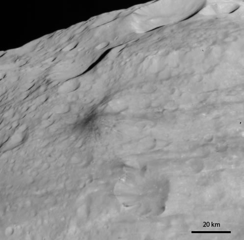 Dark hill on Vesta