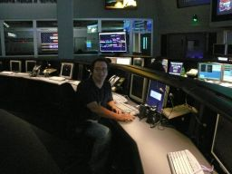 Ted Stryk in the Spaceflight Operations Facility at JPL