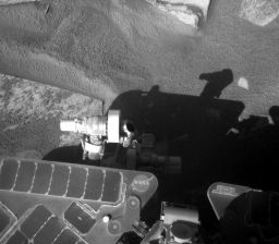 Opportunity's new arm position (sol 1,562)