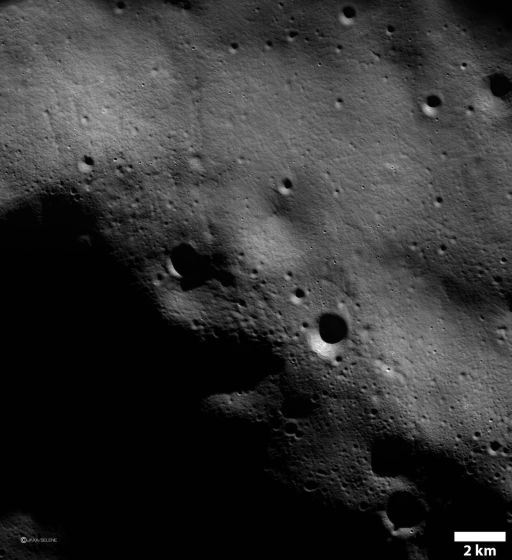 First Kaguya Terrain Camera image of the Moon