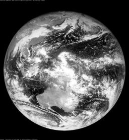 Himawari-6 image of Earth, 0300 November 15, 2007