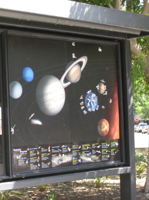 Spacecraft bulletin board at JPL