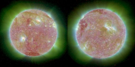 STEREO views of the Sun, around 14:00-14:16 UTC May 2