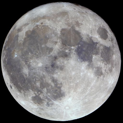 Full Moon (enhanced color)