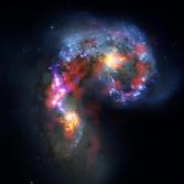 ALMA and Hubble Composite of the Antennae Galaxy
