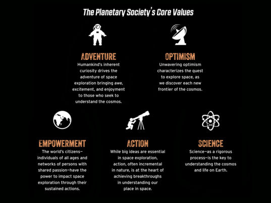 Core Values for The Planetary Society