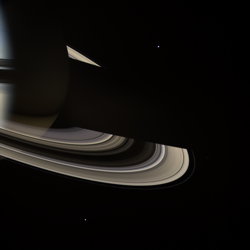 The 'dark side' of Saturn