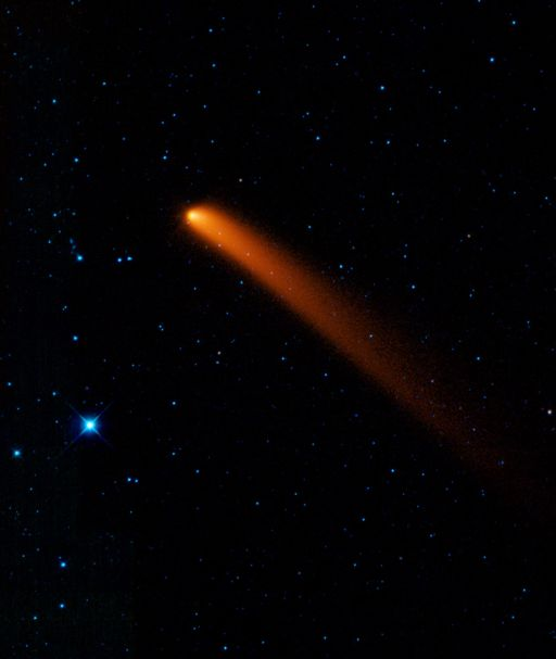 Comet Siding Spring in infrared