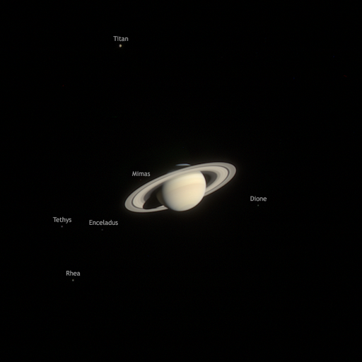 Saturn family portrait