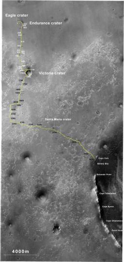 Opportunity's truly excellent road trip