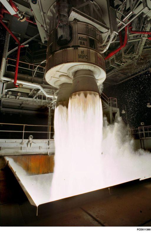 Test Firing of RD-180 Rocket Engine
