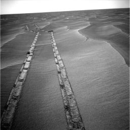 Opportunity looks back