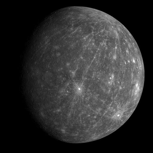 Departure view from MESSENGER's second flyby of Mercury
