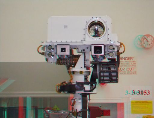 Curiosity's face in 3D